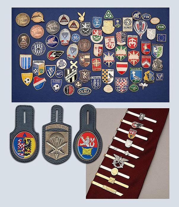 Odznaky, kravatické spony